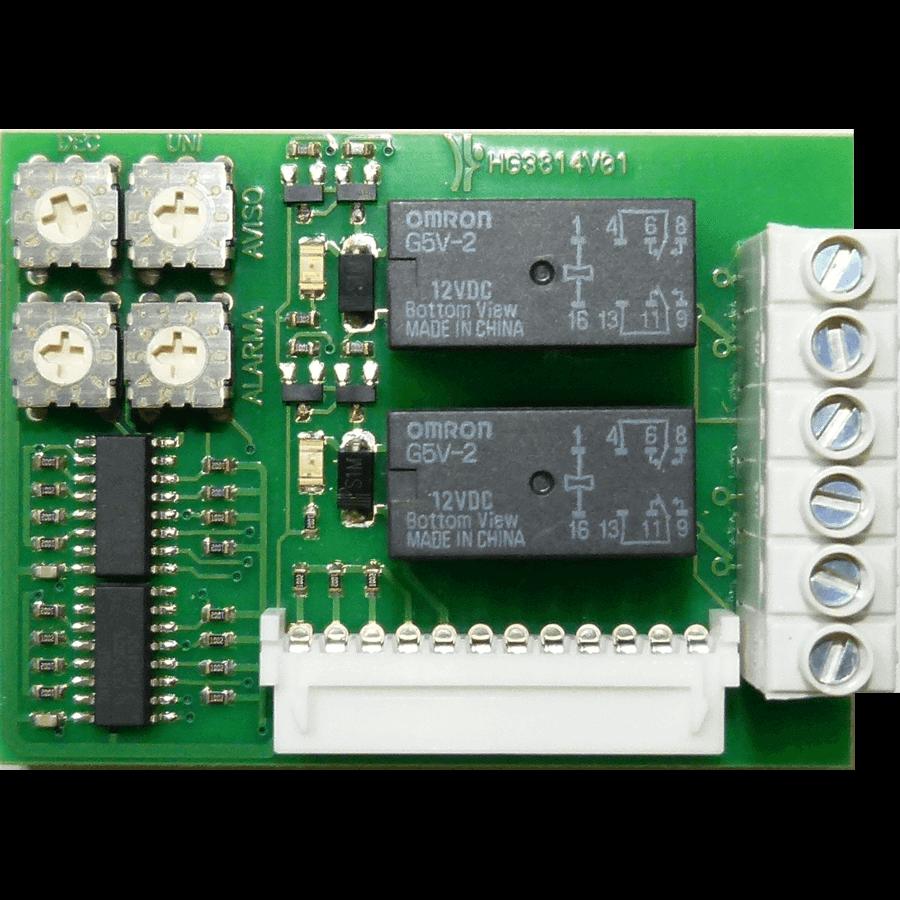 Reléová karta nastavitelná AHG3814V01