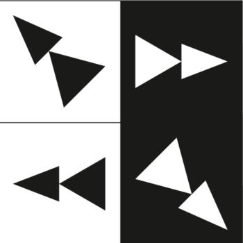 etiketa na most jeřábu černobílá