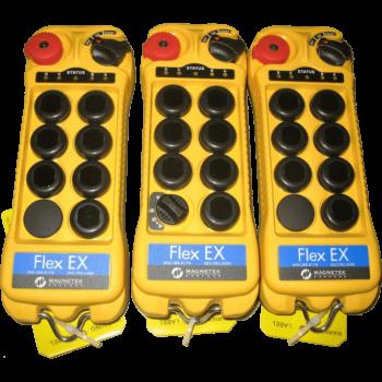 3 vysílače Flex EX 8 Tandem